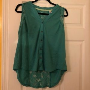 Xhilaration Tops - Lacey Teal Top